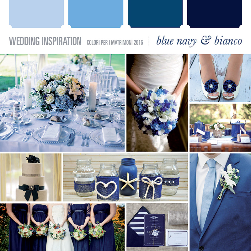Matrimonio Tema Bianco E Blu : Attente hai colori per il vostro matrimonio